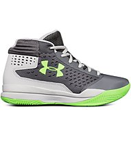 Under Armour Basket Grade School Jet 2017 - scarpe da basket - ragazzo, Grey/White