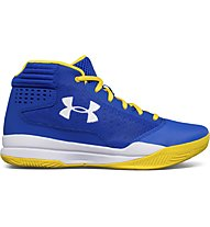 Under Armour Basket Grade School Jet 2017 - scarpe da basket - ragazzo, Blue/Yellow