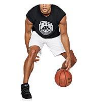 Under Armour Basketball Icon ss - t-shirt basket - uomo, Black