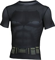 Under Armour Batman Kompressionsshirt Herren, Grey/Black