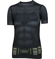 Under Armour Batman Suit Shirt Jungen, Grey/Black