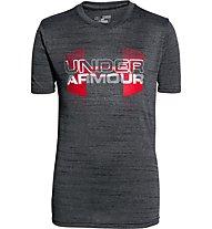 Under Armour Big Logo Hybrid T-Shirt Bambino, Black