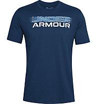 Under Armour Blurry Logo Wordmark - Trainingsshirt - Herren, Blue