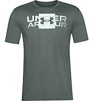Under Armour Box Logo Wordmark SS - Trainingsshirt - Herren, Green