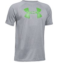 Under Armour Big Logo - T-Shirt - bambino, Grey/Green