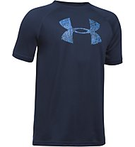 Under Armour Big Logo - T-Shirt - bambino, Dark Blue/Blue