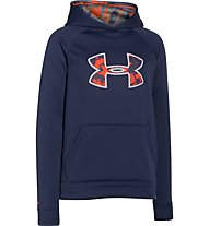 Under Armour Strom Armour Big Logo Fleece Jungen, Blue Knight/Bolt Orange