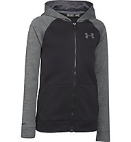 Under Armour Strom 1 Armour MagZip Fleece-Hoodie Jungen, Black/Graphite