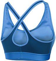 Under Armour Armour Crossback Mid Reggiseno Sportivo fitness donna, Light Blue