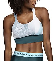 Under Armour Breathelux Perf Mid Print (Cup B) - Sport BH - Damen, White