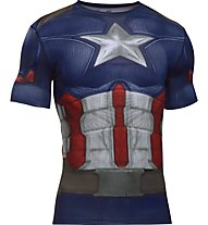 Under Armour Capitan America Suit SS Kompressionsshirt, Blue