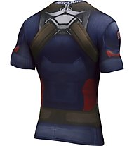 Under Armour Capitan America Suit SS Maglia a compressione, Blue
