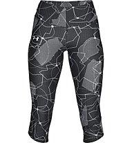 Under Armour Capri UA Armour Fly Fast Printed - Fitnesshose - Damen, Dark Grey/Grey
