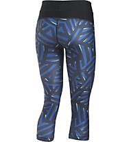 Under Armour Capri UA HeatGear Armour Printed Fitness/Training Damenhose, Blue