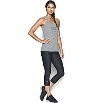 Under Armour Capri UA HeatGear Armour Printed Fitness/Training Damenhose, Asphalt Black