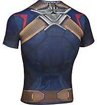Under Armour Captain America BL Compression Maglietta, Midnight Navy