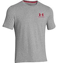 Under Armour UA Sportstyle Logo Left Chest T-Shirt Herren, Light Grey