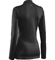 Under Armour CG Fitted Mock Langarmshirt Damen, Black/Metal