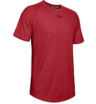 Under Armour Charged Cotton - Trainingsshirt - Herren, Red