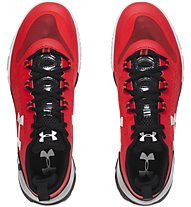Under Armour Charged Ultimate Low Tr - scarpa da ginnastica, Rocket Red/Black
