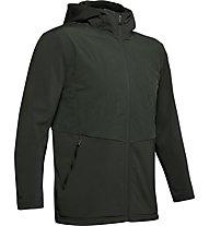 Under Armour ColdGear Reactor Gametime Hybrid - giacca con cappuccio - uomo, Dark Green
