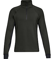 Under Armour ColdGear Reactor Run Half Zip v2 - Pullover Running - Herren, Dark Grey
