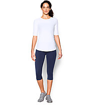 Under Armour Coolswitch Run Elbow SS Laufshirt Damen, White