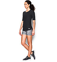 Under Armour Coolswitch Run Elbow T-shirt running donna, Black