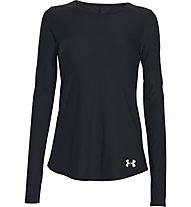 Under Armour Coolswitch maglia running manica lunga donna, Black