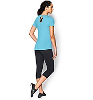 Under Armour Coolswitch SS T-Shirt running donna, Light Blue