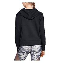 Under Armour Cotton Fleece Sportstyle Logo Hoodie - felpa con cappuccio - donna, Black
