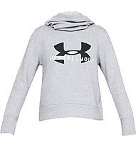 Under Armour Cotton Fleece Sportstyle Logo Hoodie - felpa con cappuccio - donna, Grey