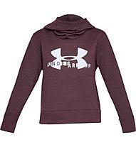 Under Armour Cotton Fleece Sportstyle Logo Hoodie - Kapuzenpullover - Damen, Dark Red
