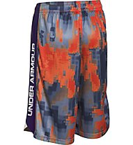 Under Armour Eliminator Printed Short Junior Pantaloni corti bambino, Dark Orange/Blue