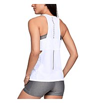 Under Armour Essentials Banded Graphic - top fitness - donna, White