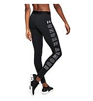 Under Armour Favorite Legging Graphic - pantaloni fitness - donna, Black/White