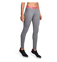 Under Armour Favourite Leggings - pantaloni fitness - donna, Grey/Coral