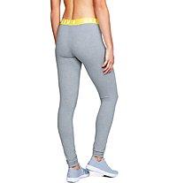 Under Armour Favourite Leggings - pantaloni fitness - donna, Grey/Yellow