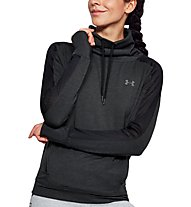 Under Armour Featherweight Fleece Funnel Neck - Fitness-Shirt - Damen, Black