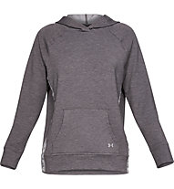 Under Armour Featherweight Fleece Hoody - felpa con cappuccio - donna, Grey