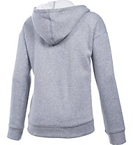 Under Armour UA Favorite Fleece Felpa con cappuccio fitness ragazza, Grey