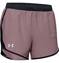 Under Armour Fly-By 2.0 - pantaloni corti running - donna, Violet/Black