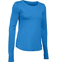 Under Armour Fly By Solid - langärmeliges Trainings-/Laufshirt - Damen, Light Blue