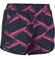 Under Armour Fly By Printed - Laufshorts - Damen, Navy/Pink