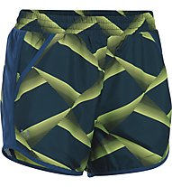 Under Armour Fly By Printed - Laufshorts - Damen, Navy/X-Ray
