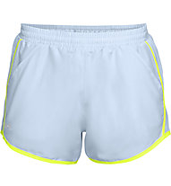 Under Armour Fly By - pantaloni running - donna, Light Blue/Yellow