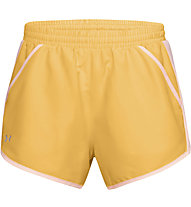 Under Armour Fly By - pantaloni running - donna, Yellow/Pink