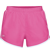 Under Armour Fly By - pantaloni running - donna, Pink/White