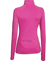 Under Armour UA Fly Fast 1/2 Zip maglia running donna, Rebel Pink