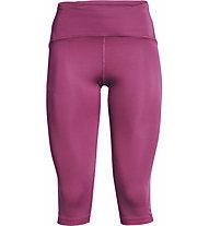 Under Armour Fly Fast - pantaloni 3/4 running - donna, Dark Pink